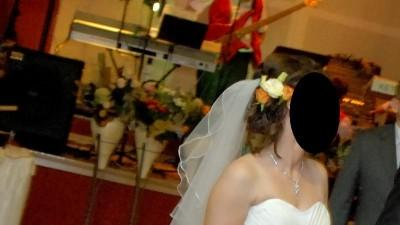 Suknia ślubna rozm. 38, kremowa/ecru