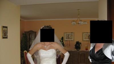 Suknia ślubna rozmiar 36-38 kolor śmietankowy