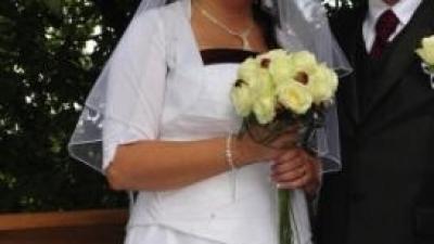 Suknia ślubna rozmiar 48/50 gorset+spódnica
