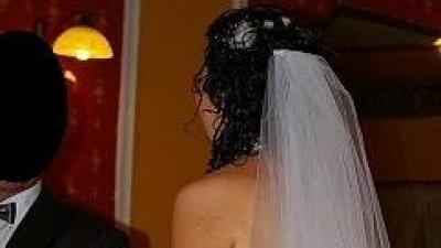 suknia ślubna rybka, jednocześciowa biała rozm. 42