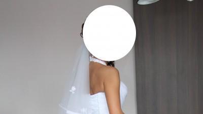 suknia ślubna rybka syrena hiszpanka biała 36-38 maxima