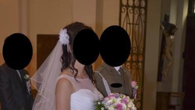 suknia ślubna serce tiulowa brokatowa 36 / 38