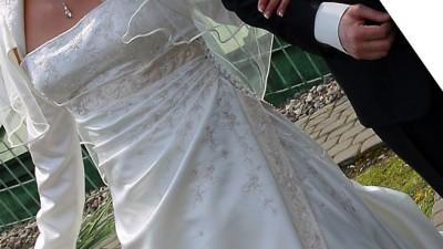 Suknia ślubna Sincerity Brindal nr 3222 śmietankowa ecru+dodatki