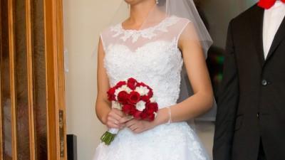 Suknia ślubna Sincerity model 3771, rozmiar 36, 169 cm+8 cm obcas