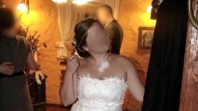 Suknia ślubna SOPHIA, połączenie modeli SONATA i JESIENNA RÓŻA