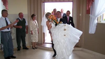 Suknia ślubna SPOSABELLA 117+dodatki Warszawa 1300zł
