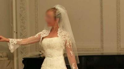 Suknia ślubna styl francuski w idealnym stanie Tanio