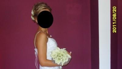 suknia ślubna syrena w stylu hiszpańskim , r.36 lub 38