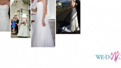 Suknia ślubna tanio ecru
