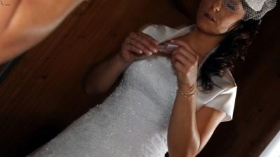 suknia ślubna toczek i bolerko