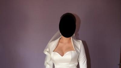 Suknia ślubna typu księżniczka GRATIS bolerko+halka+welon
