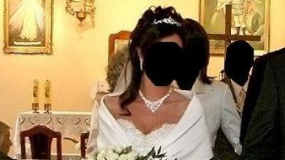 Suknia ślubna, typu księżniczka, kolor biały