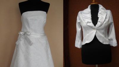 Suknia ślubna używana tania Classa na niską