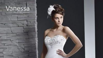 Suknia ślubna Vanessa z falbanami