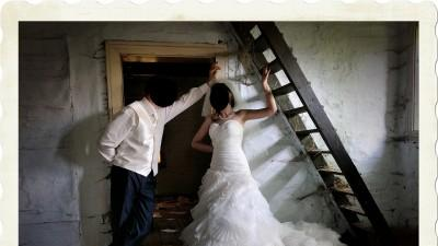 suknia ślubna Vanilla ecru, buty, welon, kamizelka męska, krawat