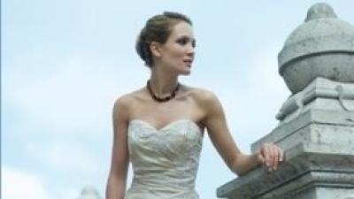 Suknia ślubna w niepowtarzalnym kolorze wanilii