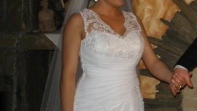 suknia slubna+welon+bolerko+futerko