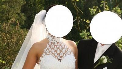 Suknia ślubna + welon i rękawiczki