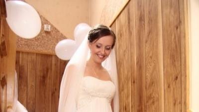 Suknia ślubna White One 3018 z muślinu
