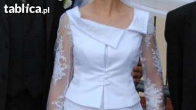 Suknia ślubna z bolerkiem- SUPER CENA