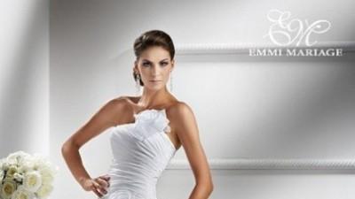 Suknia ślubna z firmy Emmi Mariage z kolekcji 2013 Exclusive Coemi