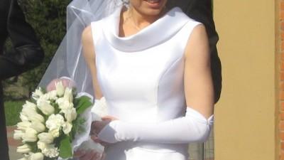 Suknia ślubna z halką