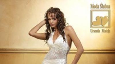Suknia ślubna z jedwabnej tafty