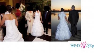 suknia ślubna z kołnierzem+bolerko