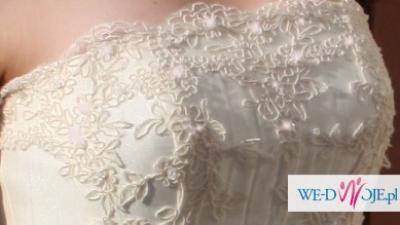 suknia ślubna z likwidacji sklepu