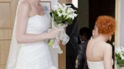 Suknia ślubna z odpinanym dołem