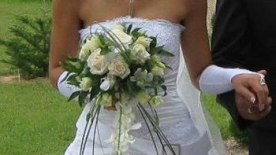 suknia ślubna z paskiem