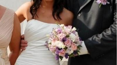 Suknia ślubna z salonu LA SPOSA 2808 Atelier diagonal  perłowa