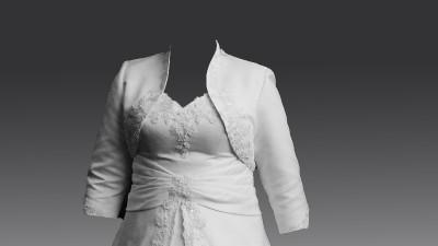 Suknia ślubna z satyny, jasne ecru_rozmiar 44