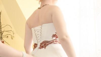 suknia ślubna za kolano