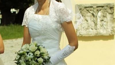 suknia ślubna Żanet Kreacja Zielnona Góra (model Ami z 2009 roku)