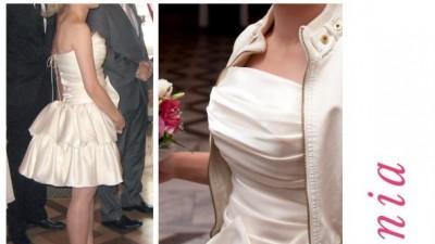suknia, sukienka ślubna poprawiny uniwersalna idealna tanio