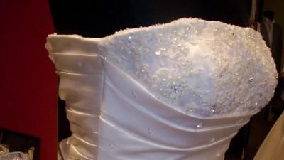 suknia Sweetheart, ivory, rozm. 38/40 jednoczęściowa z trenem