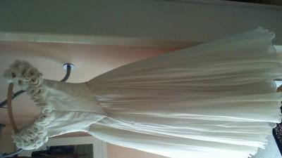 Suknia tiulowa slubna Parisette rozm.36 przerabiana z rozm.40