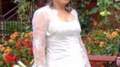 Suknia w kolorze capuccino