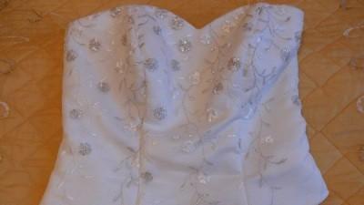 Suknia w kolorze ecru -2 częściowa