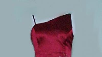 Suknia wieczorowa ASYMETRYCZNA r. 34/36 jak NOWA