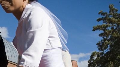 Suknia WINGS BRIDAL Monroe 2 w 1 krótka lub długa 36 / 38