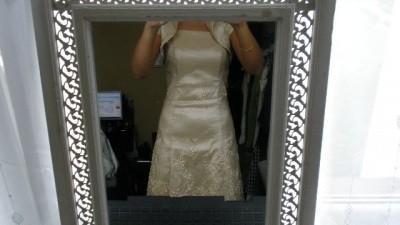 suknia z bolerkiem
