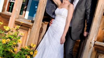 suknia ze ślicznej koronki