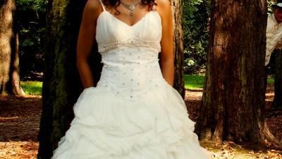 Suknie ślubna - HISZPANKA - falbany
