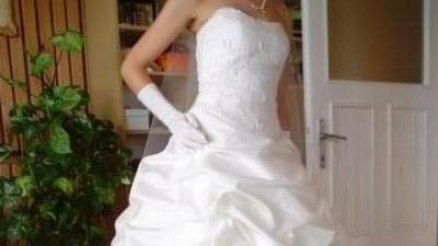 Suknie ślubna perłowa