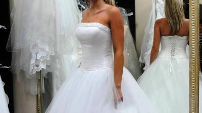 suknie ślubna rozmiar 36,38- bajkowa!!!!!!!!