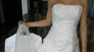 SUPER  OKAZJA -Orginalna Suknia Ślubna - EMMA DV/SILVER 2009  - TANIO