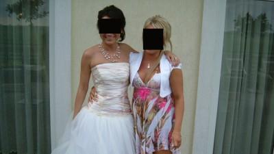 SUPER śliczna NIETYPOWA Suknia Ślubna Roz. 36!! + dodatki