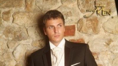 Surdut ślubny NEW MEN brązowy 100% wełna